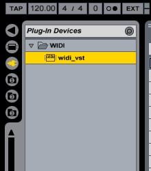 WIDI VST Online Help - Ableton Live