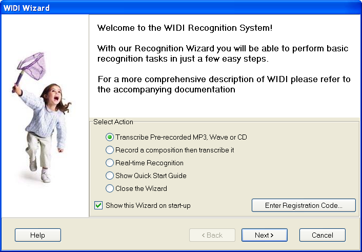 widi recognition system professional code